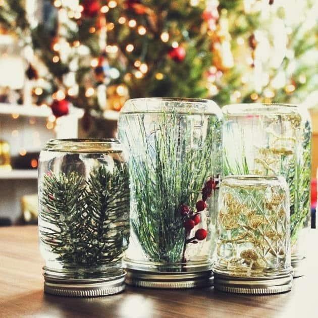 Noël-Décorations-amazon-deco-maison-facile-réaliser-boules de neige-exterieur-fabriquer-2018-pas cher-bois-pinterest-astuces-ornement-fêtes