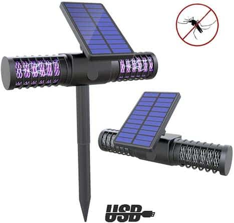 lampe-anti moustique- lampe uv- insectes- lampe anti insectes-anti mouches- solaire- lampe solaire