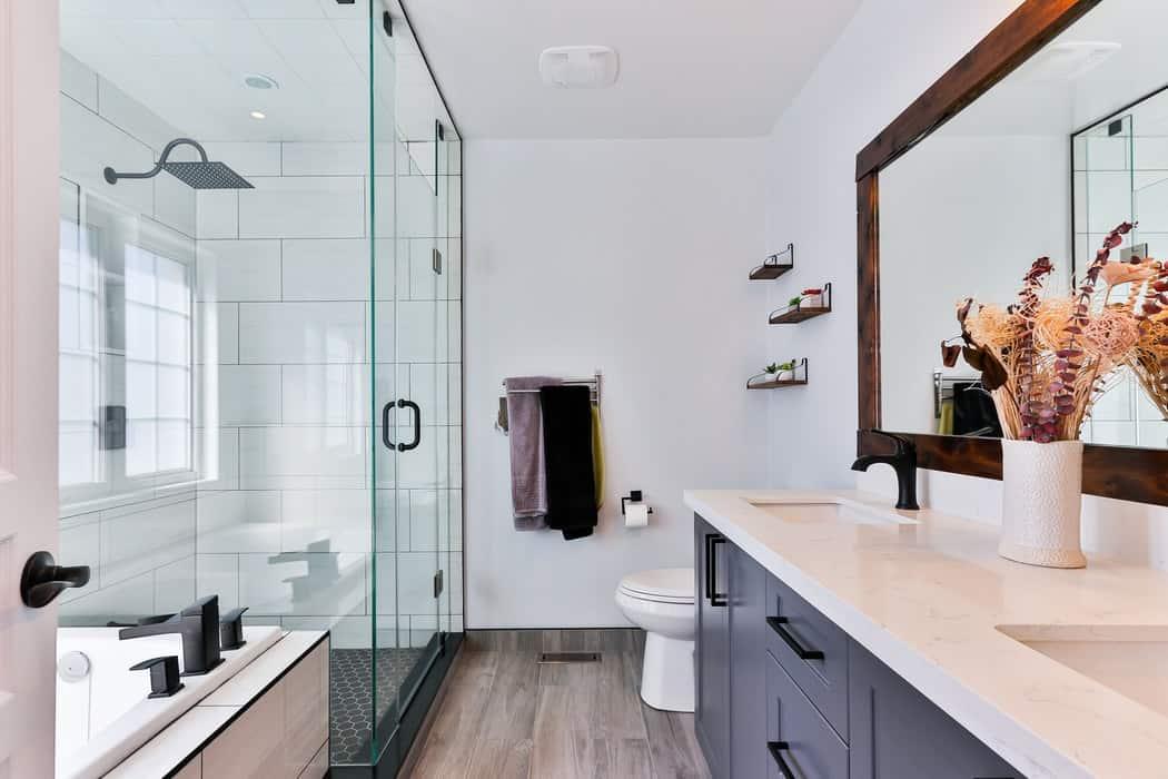Salle de bains couleur froid lavage laver décoration décorer couleurs