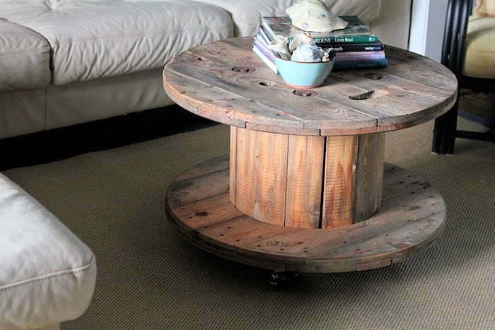 Touret bois chaleureux décoration décorer salon table basse poser intérieur